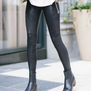 NWT Spanx Faux Leather Moto Leggings
